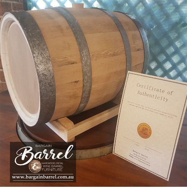 Bargain Barrel Wine Barrel Furniture Sales – 50Lt Oak Barrel Image 2