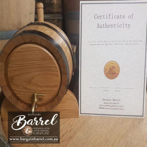 Bargain Barrel Wine Barrel Furniture Sales – 5Lt Oak Wine Barrel Image 3