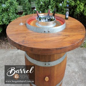 Bargain Barrel Wine Barrel Furniture Sales – Barrel Bar Chiller Image 2