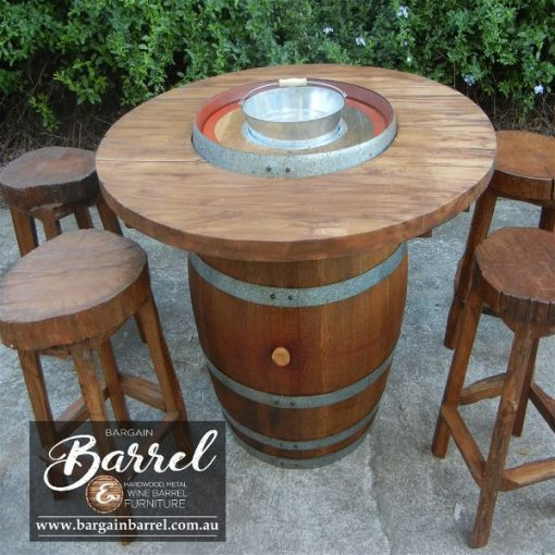 Bargain Barrel Wine Barrel Furniture Sales – Barrel Bar Chiller Image 3