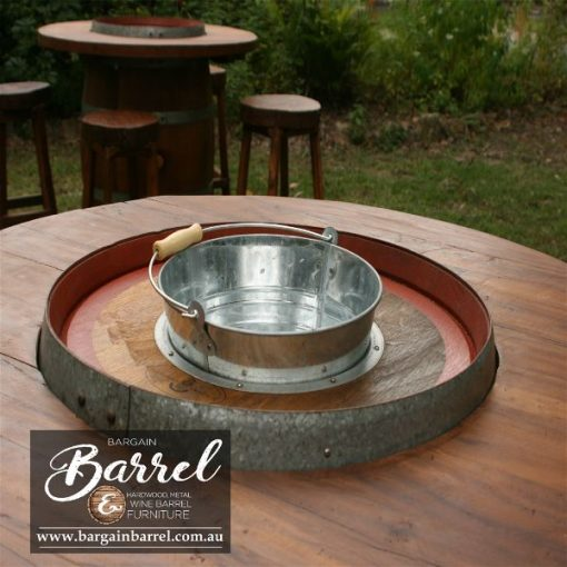 Bargain Barrel Wine Barrel Furniture Sales – Barrel Bar Chiller Image 5