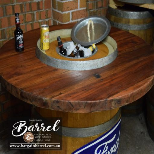 Bargain Barrel Wine Barrel Furniture Sales – Barrel Bar Esky Logo Image 3