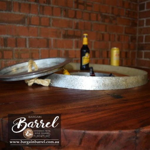 Bargain Barrel Wine Barrel Furniture Sales – Barrel Bar Esky Logo Image 4