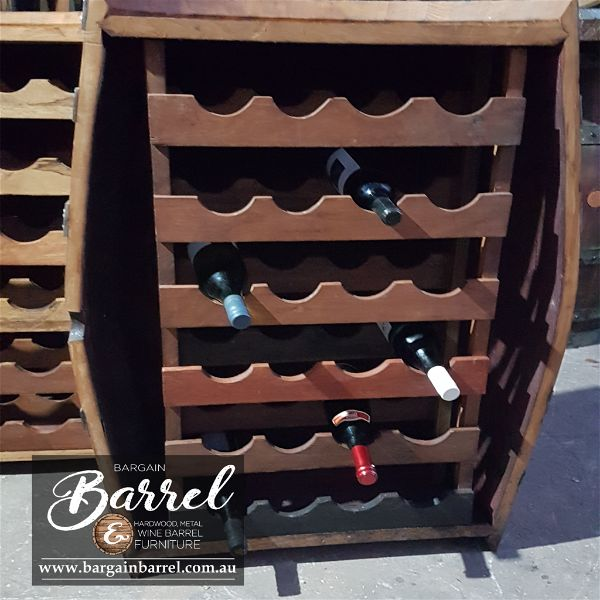 Bargain Barrel Wine Barrel Furniture Sales – Barrel Rack Image 1