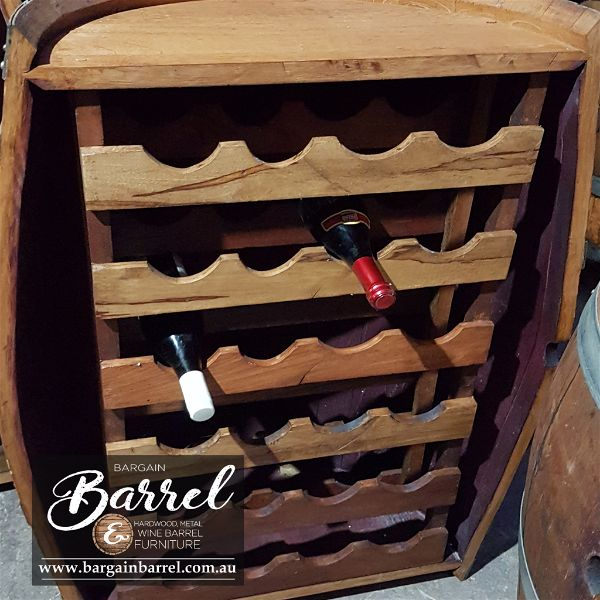 Bargain Barrel Wine Barrel Furniture Sales – Barrel Rack Image 2