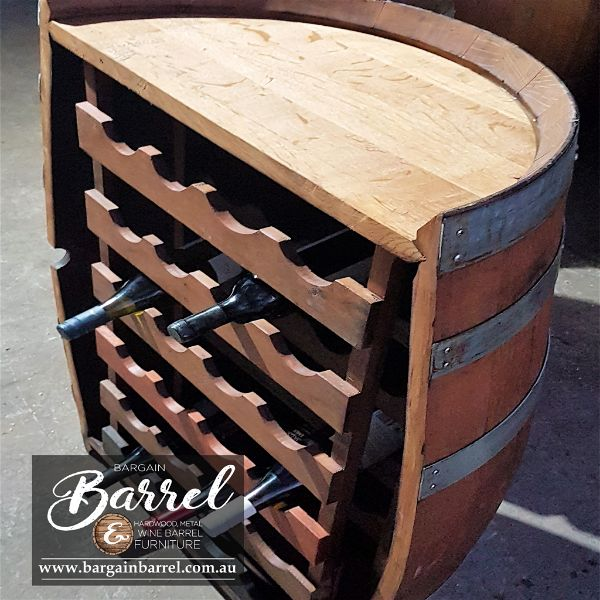 Bargain Barrel Wine Barrel Furniture Sales – Barrel Rack Image 4