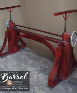 Bargain Barrel Wine Barrel Furniture Sales – Big Red Crank Table Image 3