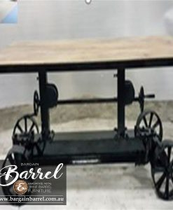 Bargain Barrel Wine Barrel Furniture Sales – Cobb&Co Crank Table Image 1