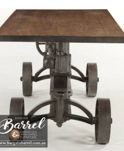 Bargain Barrel Wine Barrel Furniture Sales – Cobb&Co Crank Table Image 2