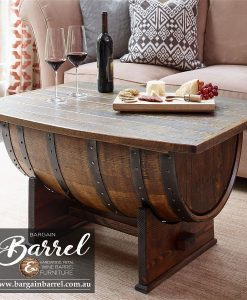 Bargain Barrel Wine Barrel Furniture Sales – Coffee Barrel Bench Image 1