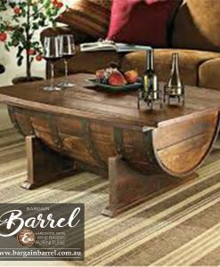 Bargain Barrel Wine Barrel Furniture Sales – Coffee Barrel Bench Image 3