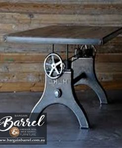 Bargain Barrel Wine Barrel Furniture Sales – Diesel Crank Table Image 2