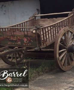 Bargain Barrel Wine Barrel Furniture Sales – Drawn Cart Large Image 2