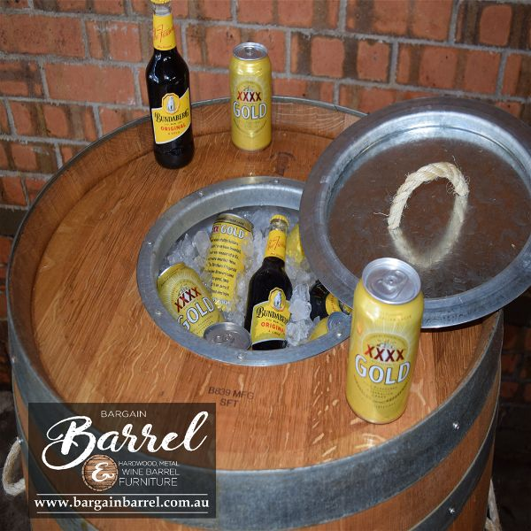 Bargain Barrel Wine Barrel Furniture Sales – Esky Logo Barrel Image 3