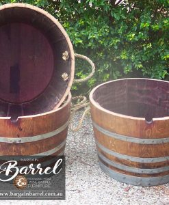 Bargain Barrel Wine Barrel Furniture Sales – Half Barrel C&C Image 1
