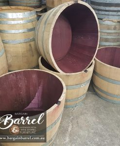 Bargain Barrel Wine Barrel Furniture Sales – Half Wine Barrel Image 1