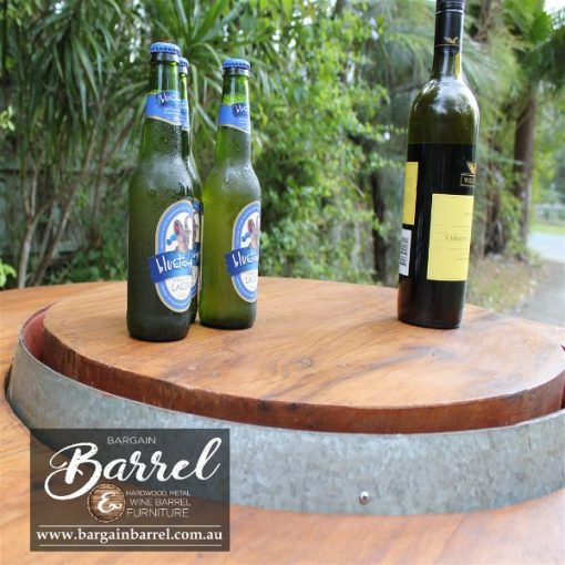 Bargain Barrel Wine Barrel Furniture Sales – Hardwood Lid Image 2