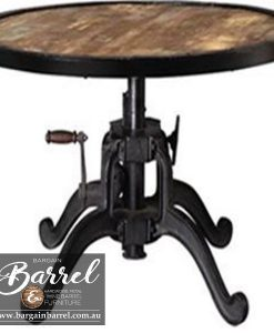 Bargain Barrel Wine Barrel Furniture Sales – Indiana Crank Table Image 1