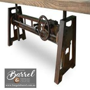 Bargain Barrel Wine Barrel Furniture Sales – Jett Crank Table Image 2
