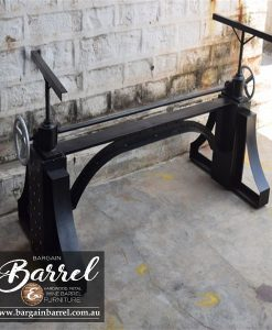 Bargain Barrel Wine Barrel Furniture Sales – Ned Kelly Crank Table Image 2