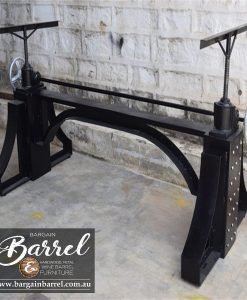 Bargain Barrel Wine Barrel Furniture Sales – Ned Kelly Crank Table Image 3