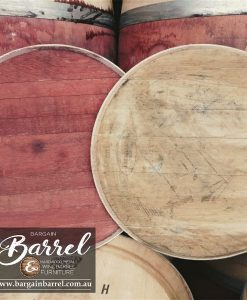 Bargain Barrel Wine Barrel Furniture Sales – Oak Lid Plain Loose Image 1