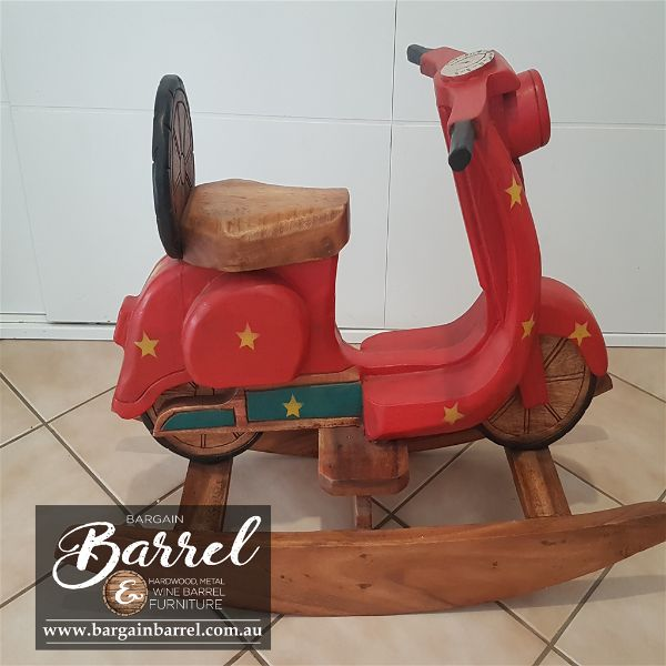 Bargain Barrel Wine Barrel Furniture Sales – Rocking Bike Image 3