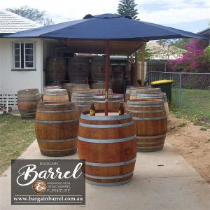 Bargain Barrel Wine Barrel Furniture Sales – Umbrella Barrel Image 1