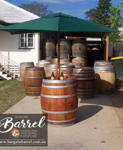 Bargain Barrel Wine Barrel Furniture Sales – Umbrella Barrel Image 2