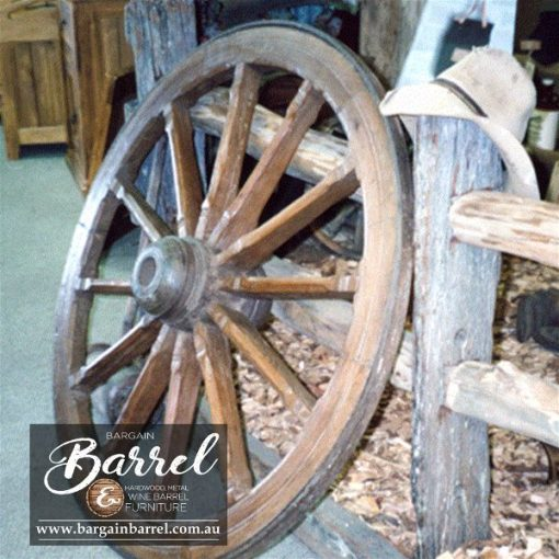 Bargain Barrel Wine Barrel Furniture Sales – Wagon Wheel Image 1