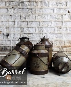 Bargain Barrel Wine Barrel Furniture Sales – Antique Trolley Wheels 4 Pack Image 1