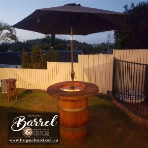 Bargain Barrel Wine Barrel Furniture Sales – Barrel Bar Umbrella Image 1