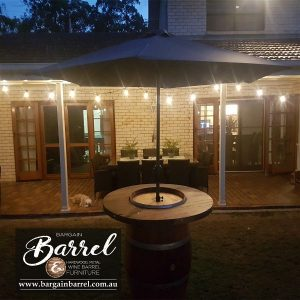 Bargain Barrel Wine Barrel Furniture Sales – Barrel Bar Umbrella Image 2