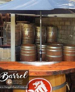 Bargain Barrel Wine Barrel Furniture Sales – Barrel Bar Umbrella Logo Image 1