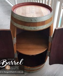 Bargain Barrel Wine Barrel Furniture Sales – Barrel Cabinet Image 1