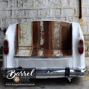 Bargain Barrel Wine Barrel Furniture Sales – Car Bench Seat Image 1