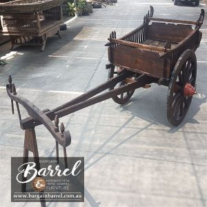 Bargain Barrel Wine Barrel Furniture Sales – Drawn Cart Small Image 1
