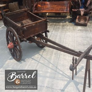 Bargain Barrel Wine Barrel Furniture Sales – Drawn Cart Small Image 2