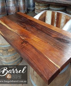 Bargain Barrel Wine Barrel Furniture Sales – Hardwood Table Top Image 1
