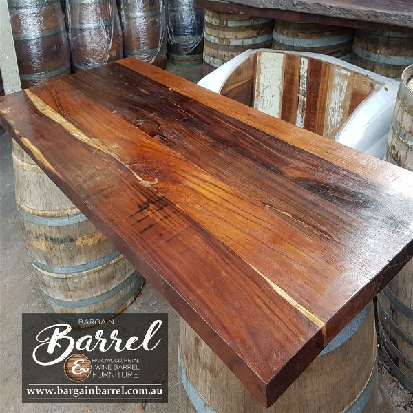 Bargain Barrel Wine Barrel Furniture Sales U2013 Hardwood Table Top Image 1