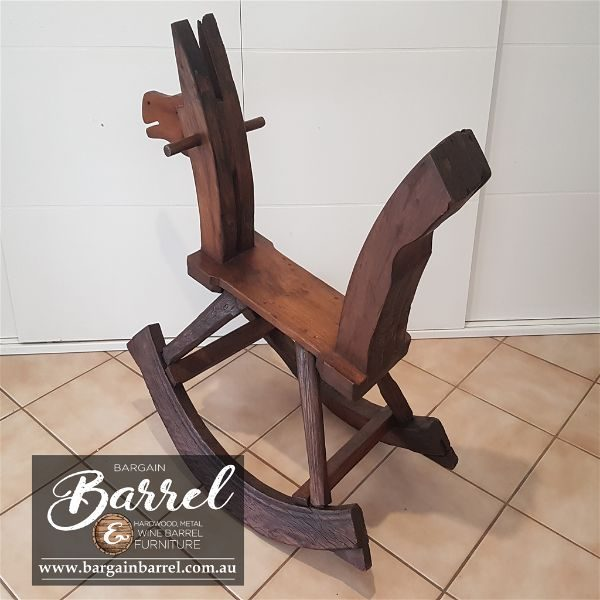 Bargain Barrel Wine Barrel Furniture Sales – Rocking Horse Image 3