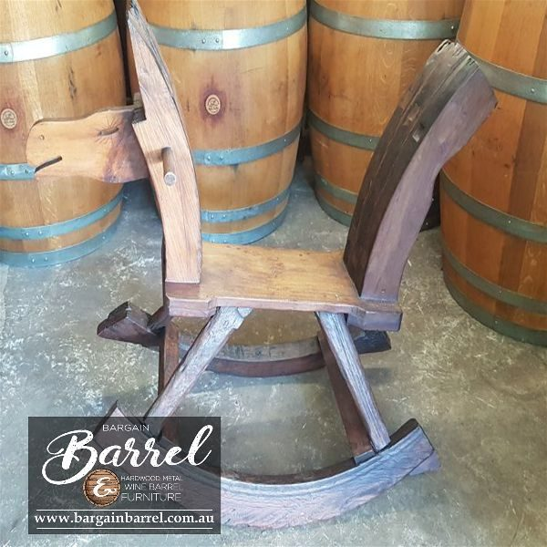 Bargain Barrel Wine Barrel Furniture Sales – Rocking Horse Image 4