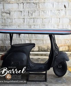 Bargain Barrel Wine Barrel Furniture Sales – Scooter Table Black Image 2