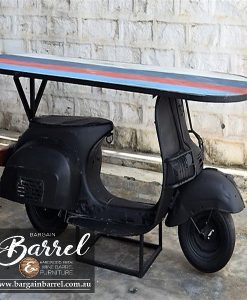 Bargain Barrel Wine Barrel Furniture Sales – Scooter Table Black Image 5
