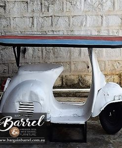Bargain Barrel Wine Barrel Furniture Sales – Scooter Table White Image 2