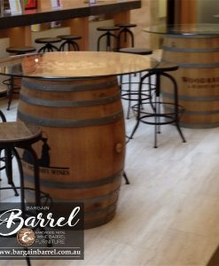 Bargain Barrel Wine Barrel Furniture Sales – Swivel Stool Image 1