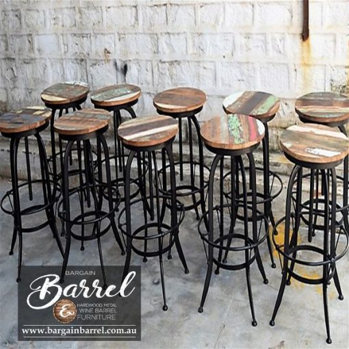 Bargain Barrel Wine Barrel Furniture Sales – Swivel Stool Image 4