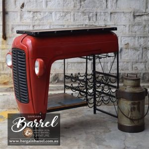 Bargain Barrel Wine Barrel Furniture Sales – Tractor Bar Shelve & Wine Rack Image 1