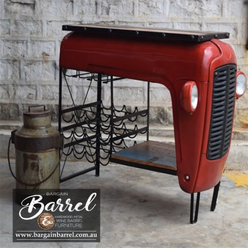 Bargain Barrel Wine Barrel Furniture Sales – Tractor Bar Shelve & Wine Rack Image 2