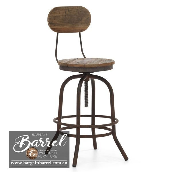 Bargain Barrel Wine Barrel Furniture Sales – Vintage Stool Image 1